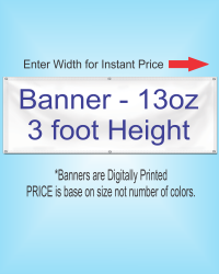 13oz BANNER 3 ft Height