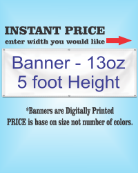 13 oz Banner 5ft Height