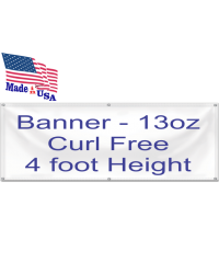 Banner 13oz Curl Free 4 foot Height