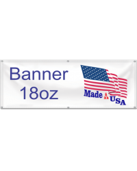 Banner 18oz 1 foot Height