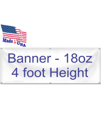 Banner 18oz 4 foot Height