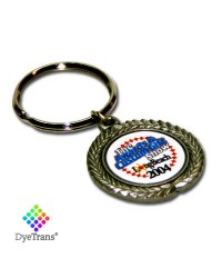 DT- P10 - DyeTrans® Pewter Key Chain