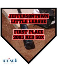 SUB_US - U5680 - Unisub Large Gloss Home Plate Plaque - 10x10