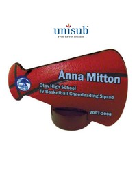 US - U5894 - Unisub Small Gloss Megaphone Streamline Award  WITH STAND