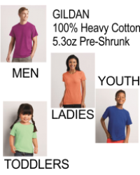 Gildan - Heavy Cotton 5.3 oz  T-Shirt - 5000