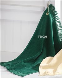 "Towels Plus - 11""x18"" Fingertip Towel with Corner Grommet and Hook - T60GH"