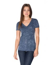 Next Level Apparel Burnout Deep V - 6540