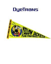 DT - A001- 5x12 DyeTrans® Small Felt Pennant - Triangle Flag WITH STICK
