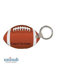 Unisub FRP  Football Key Tag White Gloss